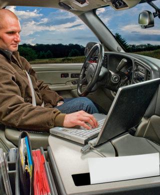 Road Master med hul til printer